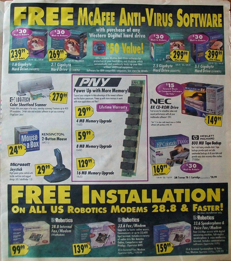 Best Buy Flyer from 1996